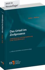 Balzer/Walther, Das Urteil im Zivilprozess