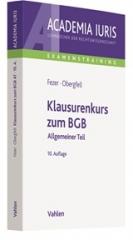 Fezer/Obergfell, Klausurenkurs zum BGB