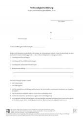 DWS, Vollständigkeitserklärung für die Gewinnermittlung nach § 4 (3) EStG