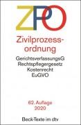 DTV, Zivilprozessordnung: ZPO (61. Auflage 2019)