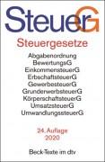 DTV, Steuergesetze: SteuerG (22. Auflage 2019)