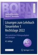 Bornhofen, Lösungen zum Lehrbuch Steuerlehre 1 Rechtslage 2018